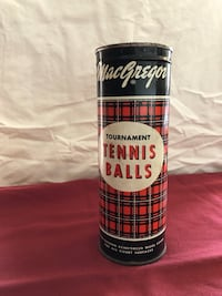 Unopened can of MacGregor tennis balls with key