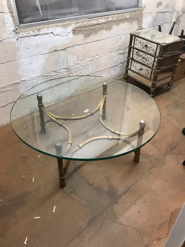 1940s glass coffee table 4