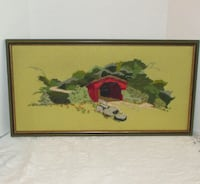 """Vintage Hand Stitched Picture 1974 - 25"""" X 13.25"""" Mississauga"""
