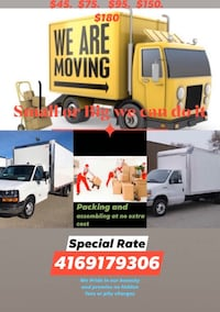 Moving and Delivery Discounted Rates  Toronto