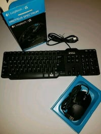 Logitech Gaming Mouse and Dell Keyboard 519 mi