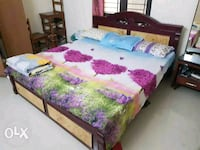 brown wooden bed frame Chennai, 600117