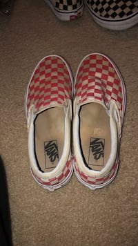 Slip on red checker vans