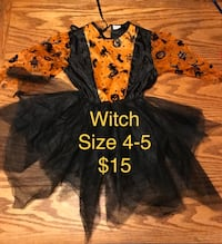 Witch Halloween Costume - size toddler 4-5 - $15