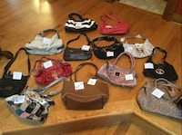 Handbags, Nine West, guess, Kathy, XO and others.