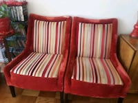 red and white striped sofa chair Greenbelt, 20770