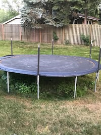 Round black and blue trampoline Youngstown, 44511