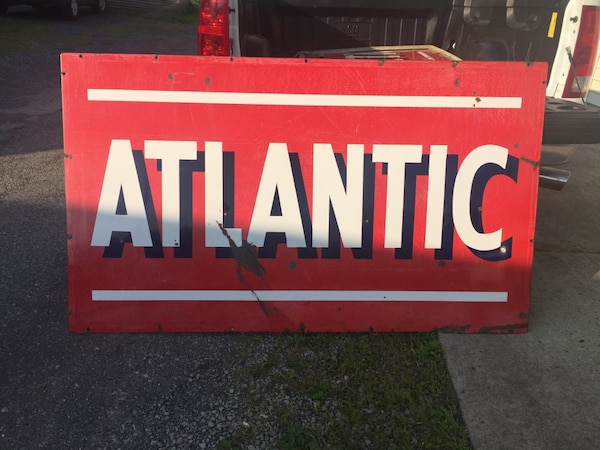 Atlantic Porcelain Sign