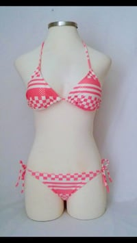 Coral and White Two Piece Swimsuit  Kansas City, 64114