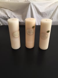 "$9 for all 3 large 9""h x 3""d Pillar Candles Arlington, 22204"