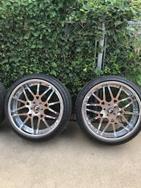 """22"""" Staggered Forgiatos new tires new floating caps"""