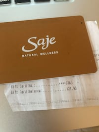 Saje giftcard 121$ for only 100