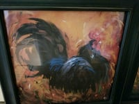 2 very colorful rooster framed pictures Smithtown, 11787