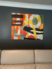 black, yellow, and red abstract painting Conyers, 30012