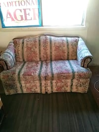white and pink floral loveseat Glen Burnie, 21060