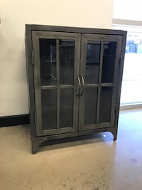 Metal Virgil Accent Table/Cabinet