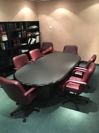 *SOLD*Boardroom table plus 8 chairs Toronto, M9W 5Z8