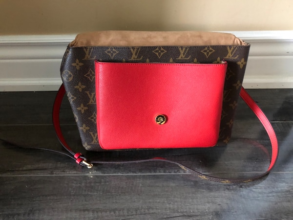LV red purse