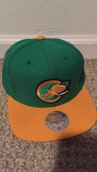 green and orange fitted cap Mililani, 96789