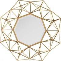 Holton Decorative Mirror, Matte Gold OMAHA