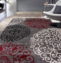 white and black floral area rug Halton Hills, L7G 0B1