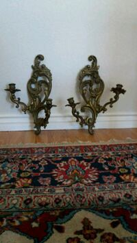 beautiful antique solid brass candle holders  Rancho Cucamonga, 91701