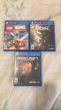 three PS4 game cases Penticton, V2A 5W9