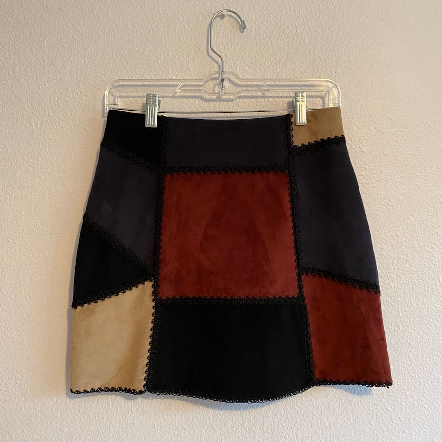 Romeo & Juliet Couture suede mini skirt
