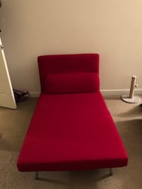 red and brown fabric sofa chair 30 km