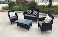 Outdoor Patio Furniture Loveseat Table and Chairs Rialto, 92376