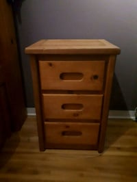 brown wooden 2-drawer nightstand Montreal, H4R