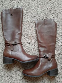 Leather boots 7 1/2 & 8 1/2