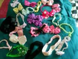 A variety of hair bows for girls