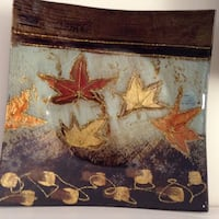 Beautiful lacquered shallow bowl or wall decor