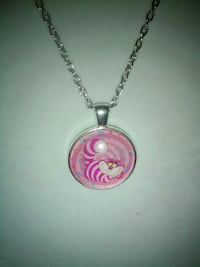 round pink and white pendant necklace Inverness
