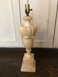 Large Antique Carved Marble Table Lamp New York, 10016