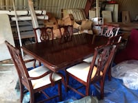 rectangular brown wooden table with six chairs dining set Seaford, 19973