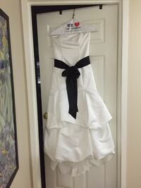 White and Black satin formal dress Fairfax, 22031