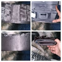 grey/shimmer now accent purse wallet /special occasion