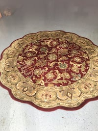 brown and red floral area rug Ventura, 93001