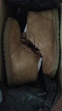 pair of brown Timberland work boots Troy, 12182