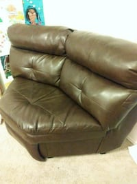 brown leather 2-seat sofa. Price firm Round Rock, 78681