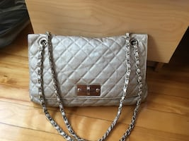 Quilted gold purse