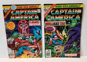 Lot of 2 King Size Annual Captain America #3 & #4