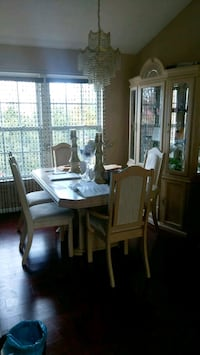 Dining room table and chairs with hutch Milford Mill