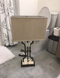 Ashley Furniture Textured Brown Finished Metal and Marble Table Lamp Set Los Angeles, 90015