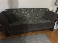 black and gray floral fabric 2-seat sofa Markham, L3T 1A1