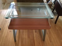 Computer glass Top with pull out drawer. Need space - move ASAP- Silver Spring, 20905