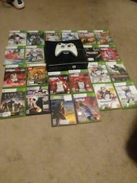 Xbox 360 with 23 games and remote and cords  McComb, 45858