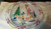 Pretty large heavy glass Christmas serving plate ( NEWTON area) Surrey, V3S 9C4
